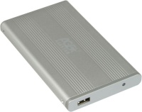 AgeStar IUB203 2.5' USB2.0  Silver Plain Aluminum external enclosure for IDE HDD