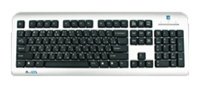 A4 Tech LCD-720 X-Slim Keyboard, Silver-Black, PS/2