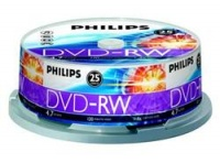 Philips 4.7 GB DVD-RW 2x 25шт cake box