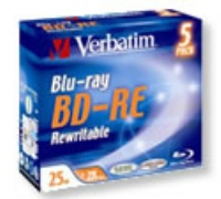 Verbatim 25Gb BD-RE 2x Jewel (43615)