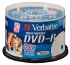 Verbatim 4.7Gb DVD-R 16x printable 50 шт в cake box (43533)