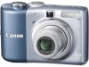 Canon PowerShot A1000 IS Blue 10.0Mpx,3648x2736,640х480 video,4х опт./4х цифр.зум,32Mb,SD-Card,155гр.