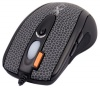 A4 Tech X-710BFS Black Optical Laser Mouse, 2000dpi, 7 кнопок+1 колесо-кнопка, покрытие 'Snake Skin',USB.