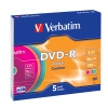 Verbatim 4.7Gb DVD-R 16x Color Slim (43557)