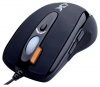 A4 Tech X-710 Black Optical Mouse, 1000dpi, 5 кнопок+5 прогр. кнопок, колесо прокрутки, USB+PS/2