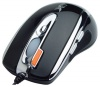 A4 Tech X-750F Black Optical Mouse, 2500dpi, 6 кнопок+1 колесо-кнопка, PS/2+USB.