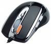 A4 Tech X-718F Black Optical Mouse, 2000dpi, 6 кнопок+1 колесо-кнопка, PS/2+USB.